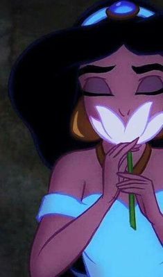 Jasmine Smells Water Lily Phone Wallpaper • Lock Screen {Aladdin, Disney}