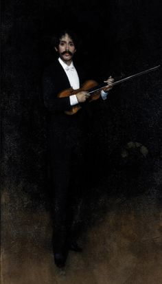 James Abbott McNeill Whistler - Arrangement in Black: Portrait of Senor Pablo de Sarasate