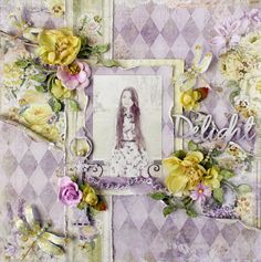AngelicaScrappenings: April Blue Fern Studio Projects using the NEW Deja Vu Collection Heritage Scrapbooking, Mixed Media Scrapbooking, Scrapbooking Layouts, Vintage Scrapbook, My Scrapbook, Scrapbook Supplies, Shadow Box Frames, Pattern Paper, Making Ideas