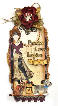 Escape Kitty Animal Rescue Tag - Scrapbook.com