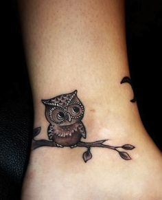 owl ankle small tattoos egodesigns even this is too big but cute