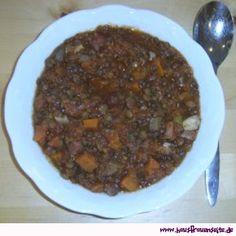 die bunte Linsensuppe mit Kasseler, Karotten, Lauch und viel Tomate laktosefrei glutenfrei
