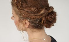 This messy bun is perfect for curly hair.