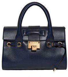 1949471b8f JIMMY CHOO ENGLAND Small Rosalie Grained Leather Top Handle - Lyst Fab Bag