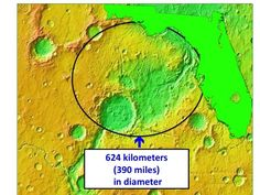 Naming Rights to the Largest Crater on the Uwingu Mars Map Listed for charity  This auction benefits the National Space Society!