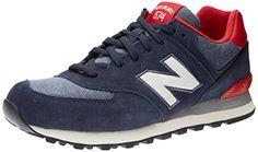 New Balance ML574, Herren Sneakers, Blau (Navy Blue/Red/White), 42 EU (8 Herren UK) - http://on-line-kaufen.de/new-balance/42-eu-new-balance-ml574-herren-sneakers