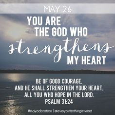 You are the God who strengthens my heart.