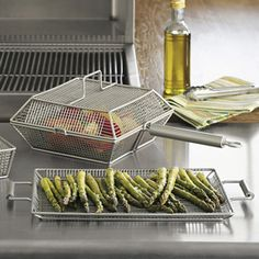 Grilling Baskets and Tray...great way to grill those veggies! #veggiegoddess