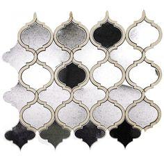 Veranda Lunar Light Quartz and Mirror Tile - Luxury Mosaics