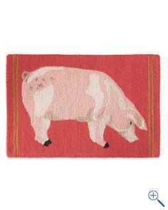 pig kitchen rug