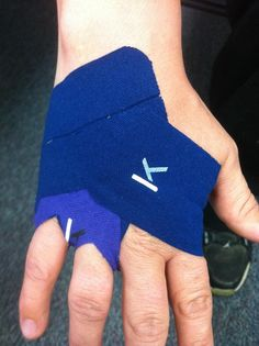KT Tape hand pain application