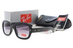 New 2014 Ray Ban Wayfarer Black Full Framed Purple Lens Sunglass
