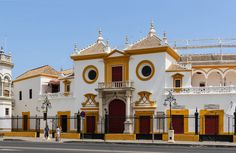 The main entrance (Puerta del Principe, the gate of the Prince) of the bullring of the Real Maestranza de Caballeria, Seville