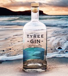 Tyree gin from the Isle of Tiree Tyree gin from the Isle of Ti. - Tyree gin from the Isle of Tiree Tyree gin from the Isle of Tiree - Alcohol Bottles, Gin Bottles, Vodka Bottle, Pina Colada, Best Gin Cocktails, Gins Of The World, London Gin, Gin Distillery, Gin Brands