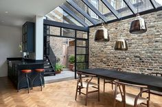 A contemporary extension on a gorgeous four storey Victorian terrace house.