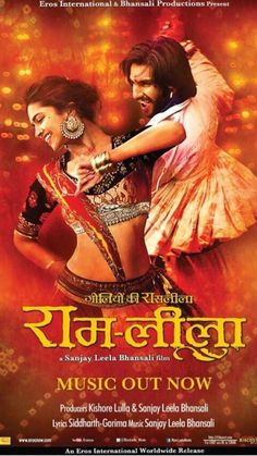 Ram Leela- Deepika and Ranveer || Hindi movie based off Shakespeare's play Romeo and Juliet. || So good!! One of my favorite Bollywood films!