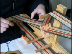 How to Warp and Weave on the Schacht Inkle Loom - YouTube