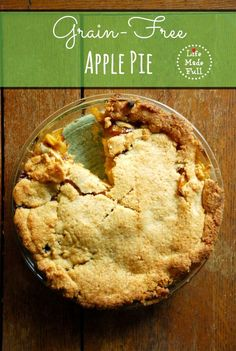This Grain Free Apple Pie has the most amazing, flakey crust I've tried!