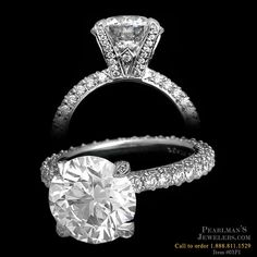 Three Sided Princess engagement mounting with diamond tips and prongs