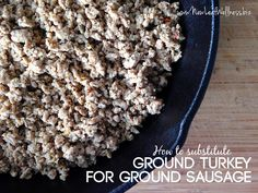 How to turn ground turkey into ground sausage with spices in your spice rack.