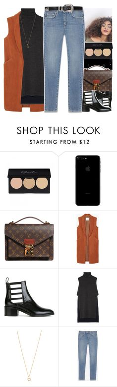 """""""•"""" by abigail-petion ❤ liked on Polyvore featuring Louis Vuitton, MANGO, Each X Other, ADAM, Accessorize and Yves Saint Laurent"""
