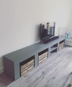 Rural TV furniture - My Home Decor Tv Furniture, Concrete Furniture, Happy New Home, Tv Wall Design, Living Spaces, Living Room, Home And Living, Home Goods, Family Room