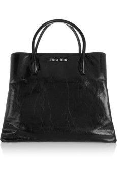 Miu Miu Leather tote | NET-A-PORTER
