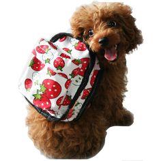 Wholesale Strawberry Pattern Dog Backpacks