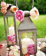 Decoração romântica para festa de casamento