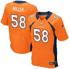 sports shoes 5604c fbdc9 Nike Elite Nike NFL Men s Denver Broncos  58 Von Miller Team Color Orange NFL  Jersey