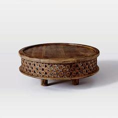 Carved Wood Coffee Table #westelm