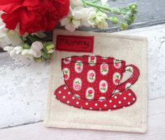 Personalised Gift for Mummy - Fabric Coaster  £6.50