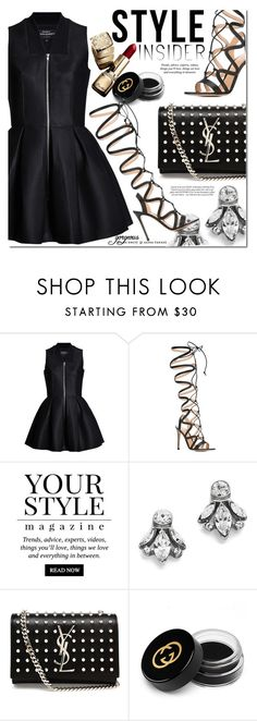 """""""Strapped In: Lace-Up Sandals"""" by monica-dick ❤ liked on Polyvore featuring Gianvito Rossi, Pussycat, Guerlain, Ben-Amun, Yves Saint Laurent, Gucci, contestentry, laceupsandals and PVStyleInsiderContest"""