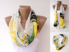 infinity scarf chiffon scarf loopcircle scarves sewing by seno, $15.00