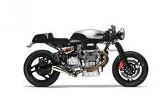 Alain Bernard customiza Moto Guzzi V1100 una obra de arte inspirada en el minimalismo