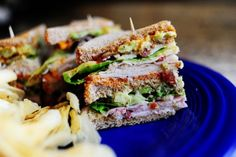 Killer Club Sandwich by Pioneer Woman. I made these last week. Family liked them, but they are expensive to make.