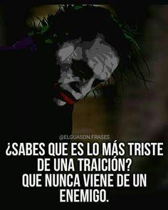 este pin me en canta as ta me hace yorar Joker Frases, Joker Quotes, Spanish Inspirational Quotes, Spanish Quotes, Smart Quotes, Funny Quotes, Top Disney Movies, Joker Heath, Joker Pics