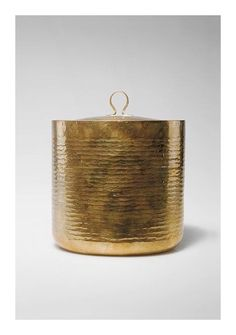 Inspiration. Texture, colour, form, proportion...perfect.  Brass Lidded Jar, c1930. Bauhaus.