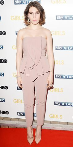 Look of the Day - January 16, 2014 - Zosia Mamet in Elisabetta Franchi from #InStyle