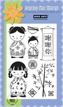 Hero Arts Products-chinese dolls stamp set