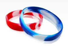 Colour Swirl Silicone Wristbands