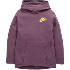dd3708021075 Nike Older Girls Tech Fleece Oth Hoody (215 SAR) ❤ liked on Polyvore  featuring tops