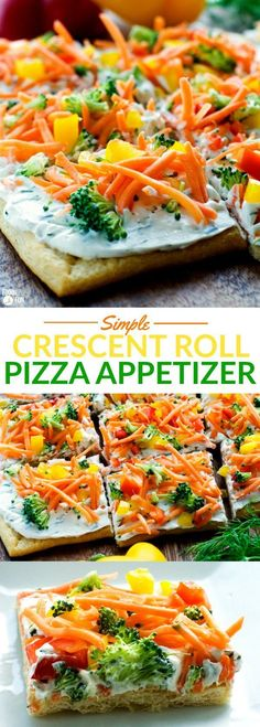 This Simple Crescent Roll Pizza Appetizer recipe is easy to make and always a hit at parties! You ca This Simple Crescent Roll Pizza Appetizer recipe is easy to make and always a hit at parties! Crescent Roll Pizza, Crescent Roll Recipes, Vegetable Pizza Recipe Crescent Rolls, Cresent Roll Appetizers, Cresent Rolls, Fingerfood Recipes, Appetizer Recipes, Appetizer Ideas, Vegetarian Recipes