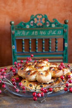 Lussekattor, sweet saffron buns, for Lucia Dagen, the start of a Swedish Christmas