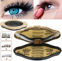 6e0cb97494c High Quality Magnetic False Eyelashes Makeup Reusable Long Natural  Eyelashes Extension With Mirror - NewChic Mobile