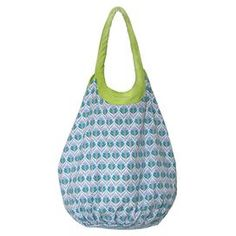 "Cotton tote bag.  Product: ToteConstruction Material: 100% CottonColor: BlueFeatures:  Interior tie closureLined interior with one zip pocket and one slip pocket Dimensions: 26"" H x 17"" W x 17.5"" DCleaning and Care: Hand wash cold and tumble dry"