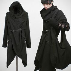 Hooded futuristic nugoth coat jacket