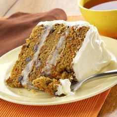 Carrot Layer Cake Recipe from Taste of Home -- shared by Linda Van Holland of Innisfail, Alberta