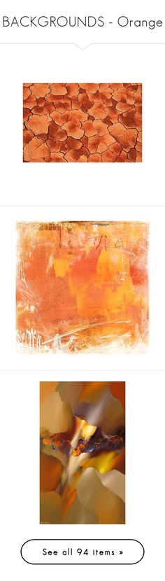 """""""BACKGROUNDS - Orange"""" by for-the-art-of-fashion ❤ liked on Polyvore featuring home, home decor, wall art, backgrounds, art, filler, abstract, borders, picture frame and fall home decor"""