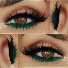 Makeup for brown eyes: the 24 best makeup ideas for brown Make-up für braune Augen: Die 24 besten Make-up-Ideen für braune Augen – Luise.site Makeup – makeup Make-up for brown eyes: The 24 best makeup ideas for brown eyes Luise.site Makeup up - Makeup For Green Eyes, Love Makeup, Makeup Inspo, Makeup Inspiration, Beauty Makeup, Green Eyeliner, Gorgeous Makeup, Makeup Geek, Green Smokey Eye